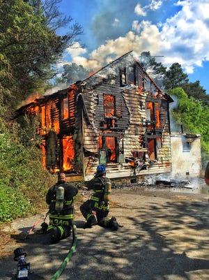 Crews battled a fire at Springwood Drive in York Township Tuesday.