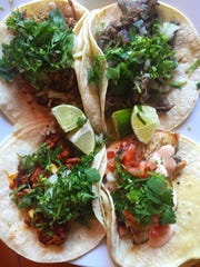 A selection of tacos at Taqueria La Picardia in Port Chester.