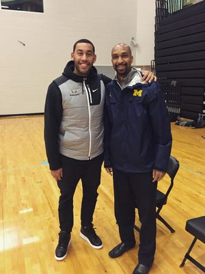 Drew Valentine, left, and Saddi Washington, right, both from Lansing and graduates of Sexton High School, will be coaching against each other Saturday at the Final Four. Drew is in his first season as an assistant at Loyola-Chicago, Saddi in his second year at Michigan.