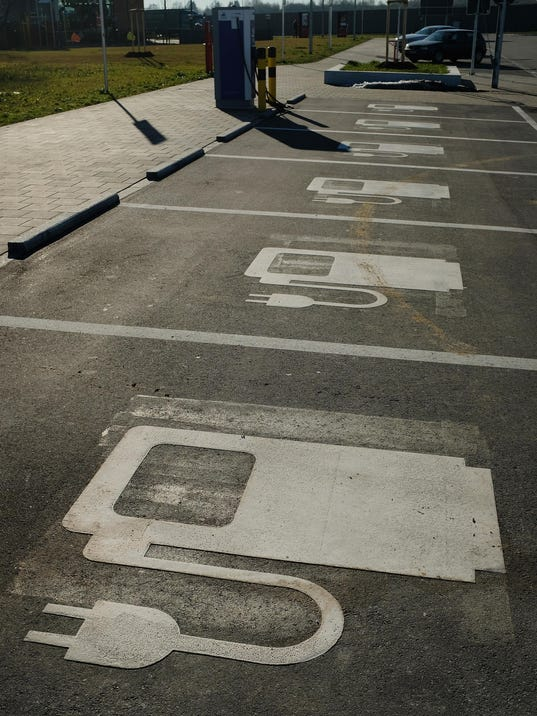 Eletric Car Charging Area