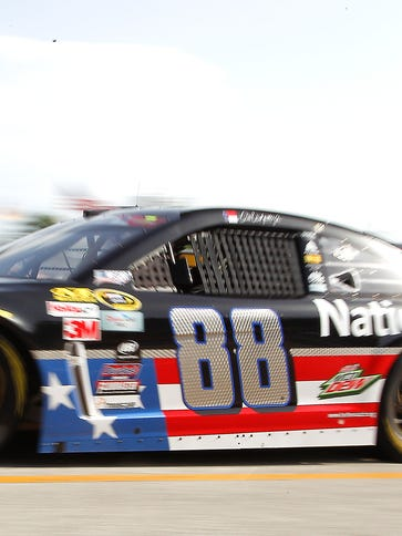 Dale Earnhardt Jr. will start on the pole for Sunday