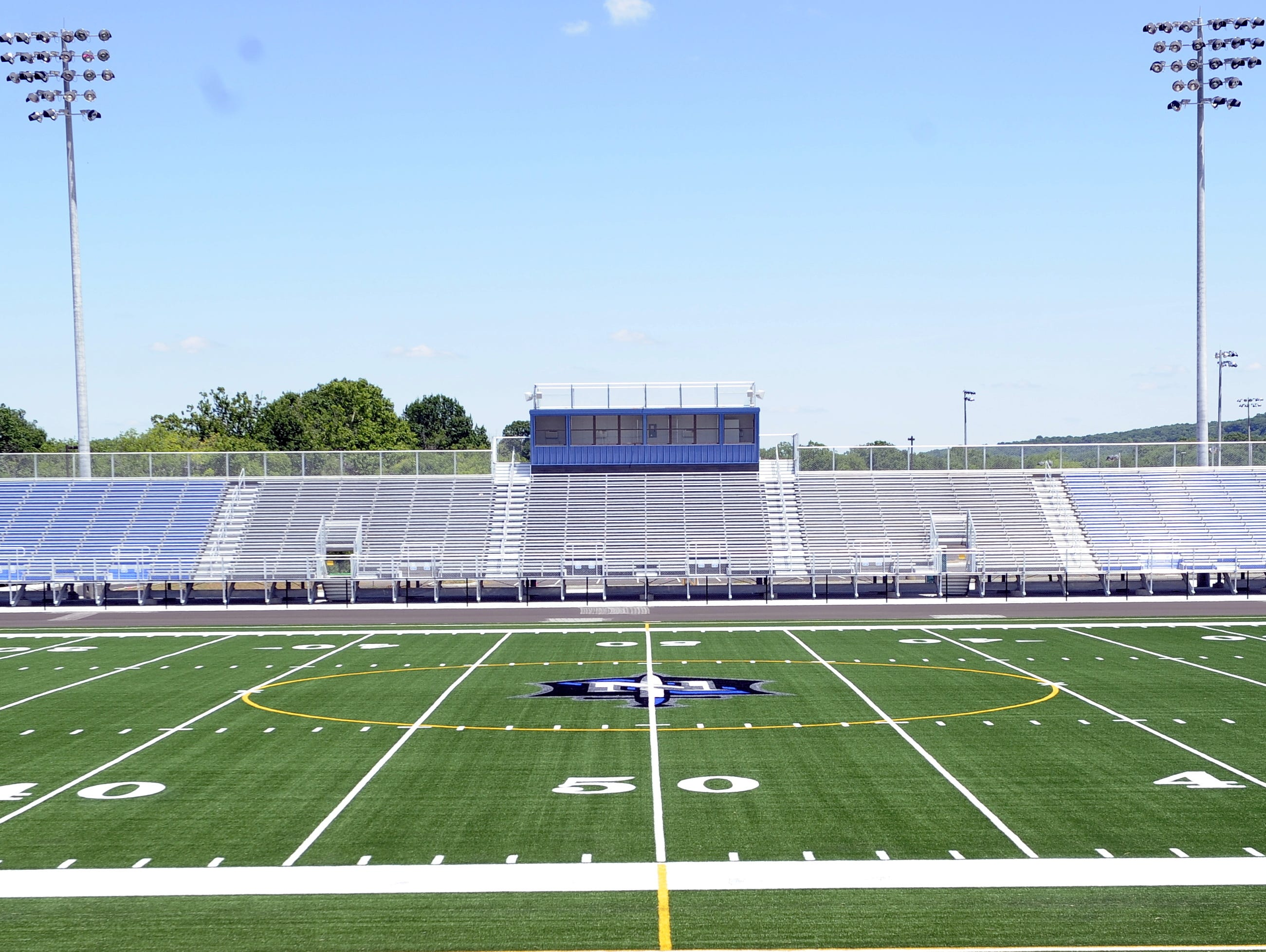 Nolensville High has the Midstate's only public-school artificial turf football field.