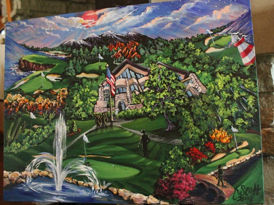 The John Q. Hammons Foundation commissioned a piece of art by Columbia, Missouri artist Cindy Scott depicting Highland Springs Country Club alongside such American golf destinations as Pebble Beach and Augusta National.