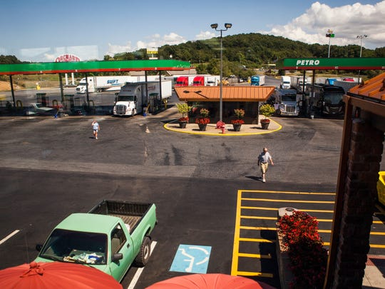 Truck drivers make their way into White's Travel Center