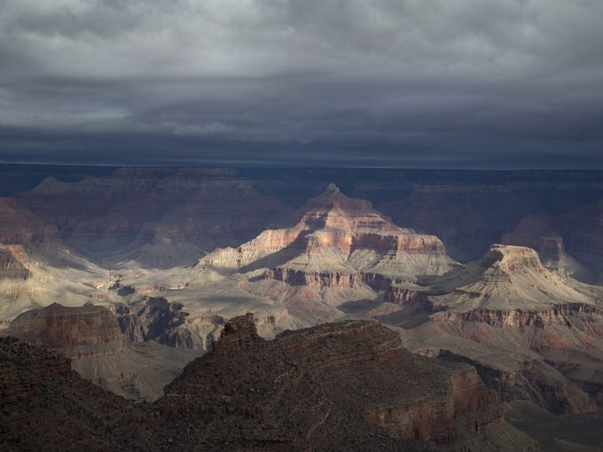 The Grand Canyon, February 17, 2016, from near the
