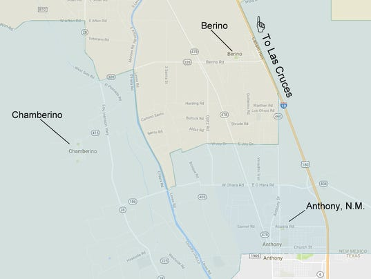 Chamberino, New Mexico map