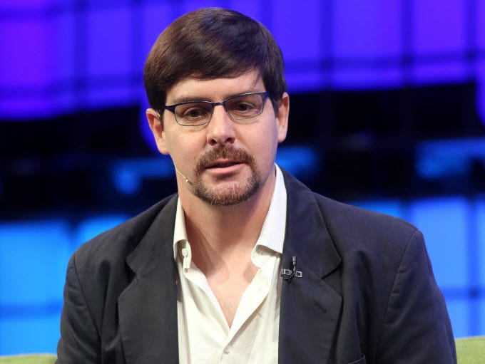 Gavin Andresen of the Bitcoin Foundation speaks on the final day of the 2014 Web Summit in Dublin, Ireland on Nov. 6.