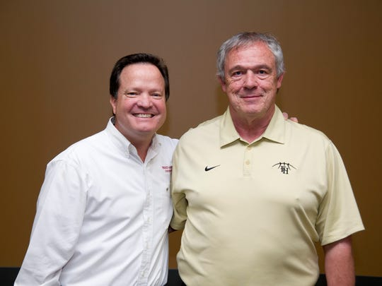 Dr. David Powell, assistant dean of the College of Biblical Studies, and Dale Neal, coach of the Lady Lion basketball team, were recognized last week for 20 years of service to Freed-Hardeman University in Henderson.