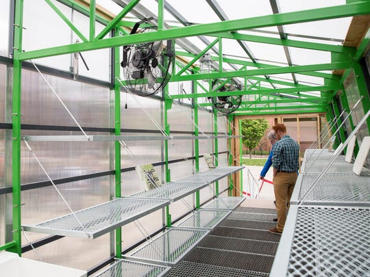 The public got a chance to see a mobile greenhouse