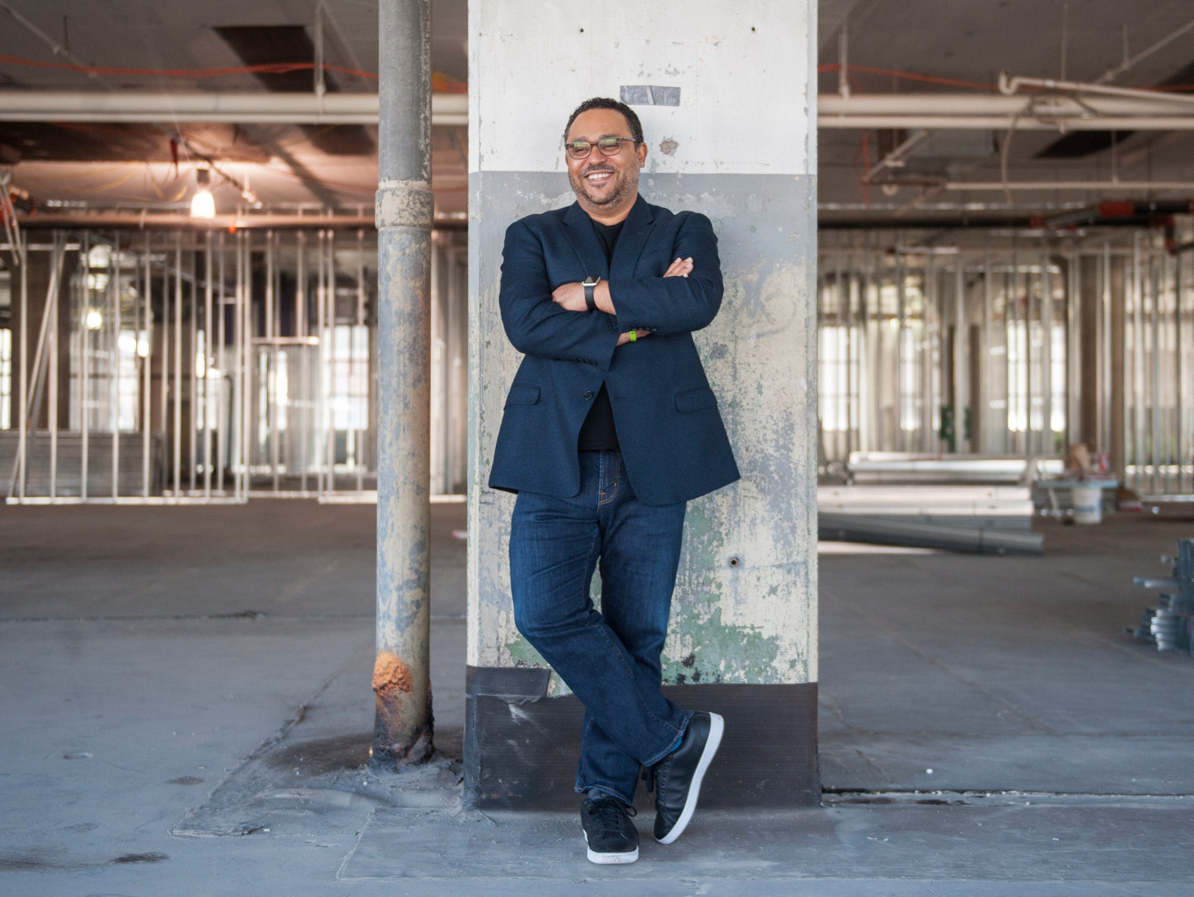 Kevin Sbraga, shown here in the Fitler Club space which is under construction, says he is learning to slow down and appreciate life after suffering some career setbacks. ' I'm just trying to enjoy everything that's going on. We so often forget to do that. We get so caught up in whatever is happening, that we forget to enjoy that.