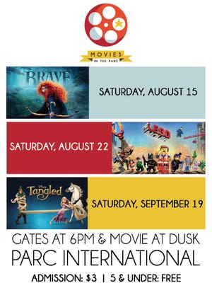 "Downtown Lafayette brings Movies in the Parc back this fall. Films shown include: ""Tangled,"" ""Brave"" and ""The Lego Movie."""