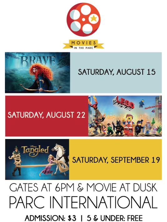 Movies in the Parc Fall 2015