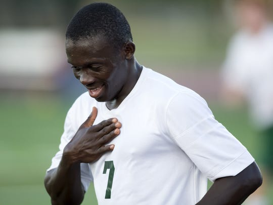 Oshkosh North's Lamin Jarju leads the Spartans in scoring