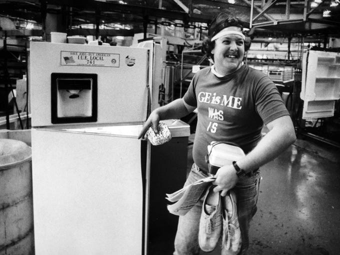 Bernie Hilbert II was among the laid-off employees who were called back to work at GE in 1984.
