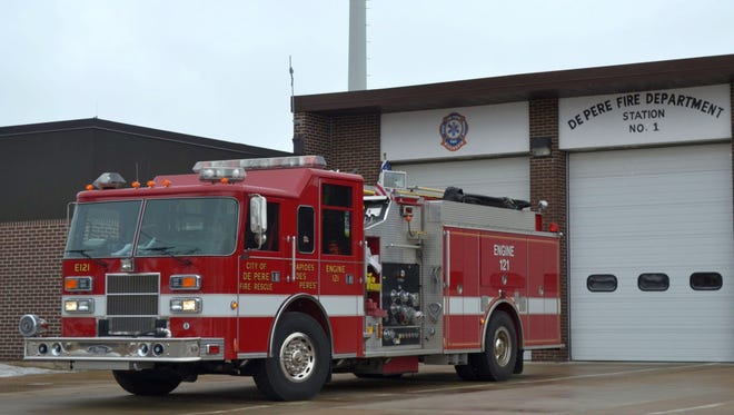 De Pere firefighters were on the scene for about an hour.
