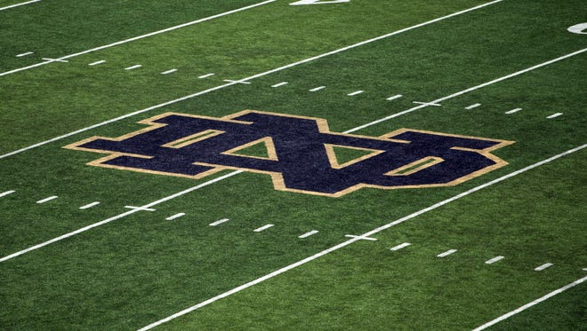 A view of the football field in South Bend, Indiana, home of Notre Dame.