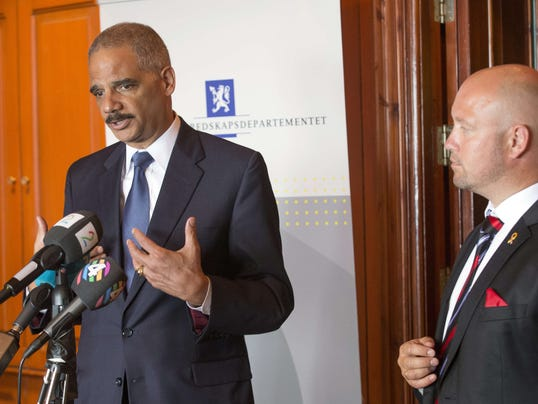 Eric Holder in Norway