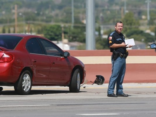 Police are responding to a fatality involving a motorcyclist on Interstate 10 West at Zaragoza Road.