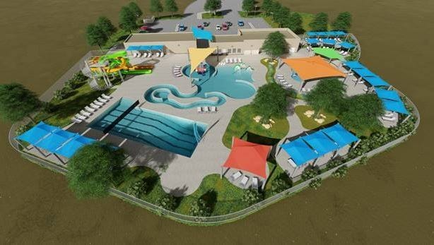 Here is a conceptual designs of a future water park to be build at city parks. The design is just an idea and has not been finalized.