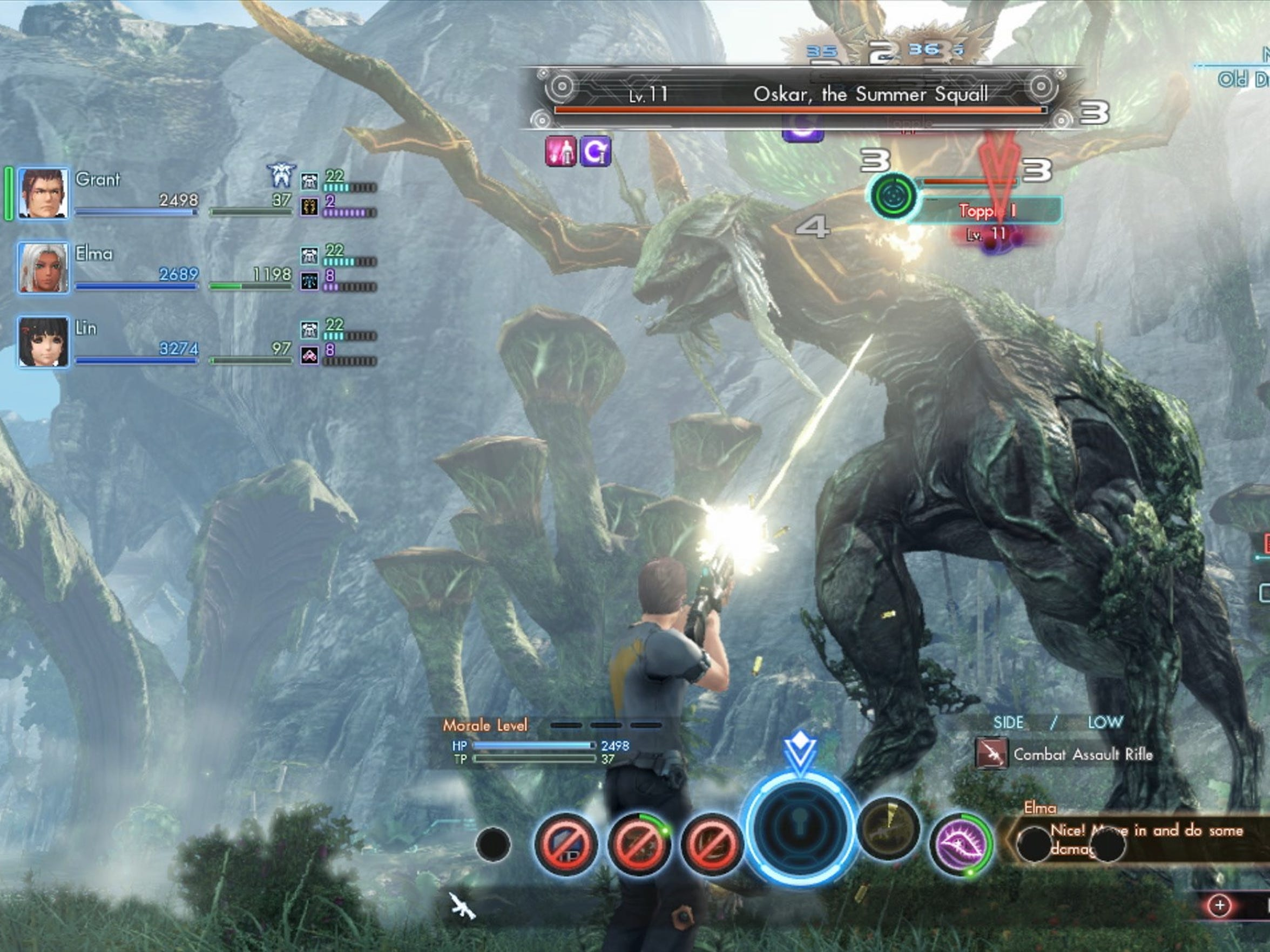 Gun and blade battles with large monsters is par for the course in Xenoblade Chronicles X.