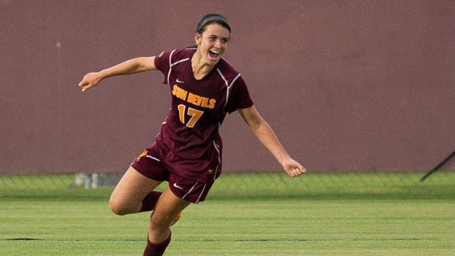 Junior forward Cali Farquharson's goal Sunday in a 1-0 win over Oregon State was the 30th of her ASU career.