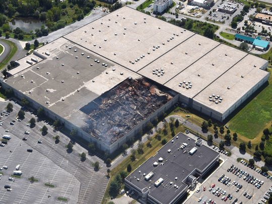 An aerial view of the Gap distribution center in Fishkill,