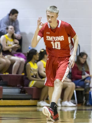 Three-point sharpshooter Caleb Matthews is one of the reasons Smyrna is ranked No. 2 statewide in boys basketball.
