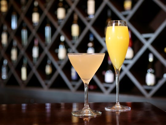 Mimosa and Pear Orchard are cocktails served during
