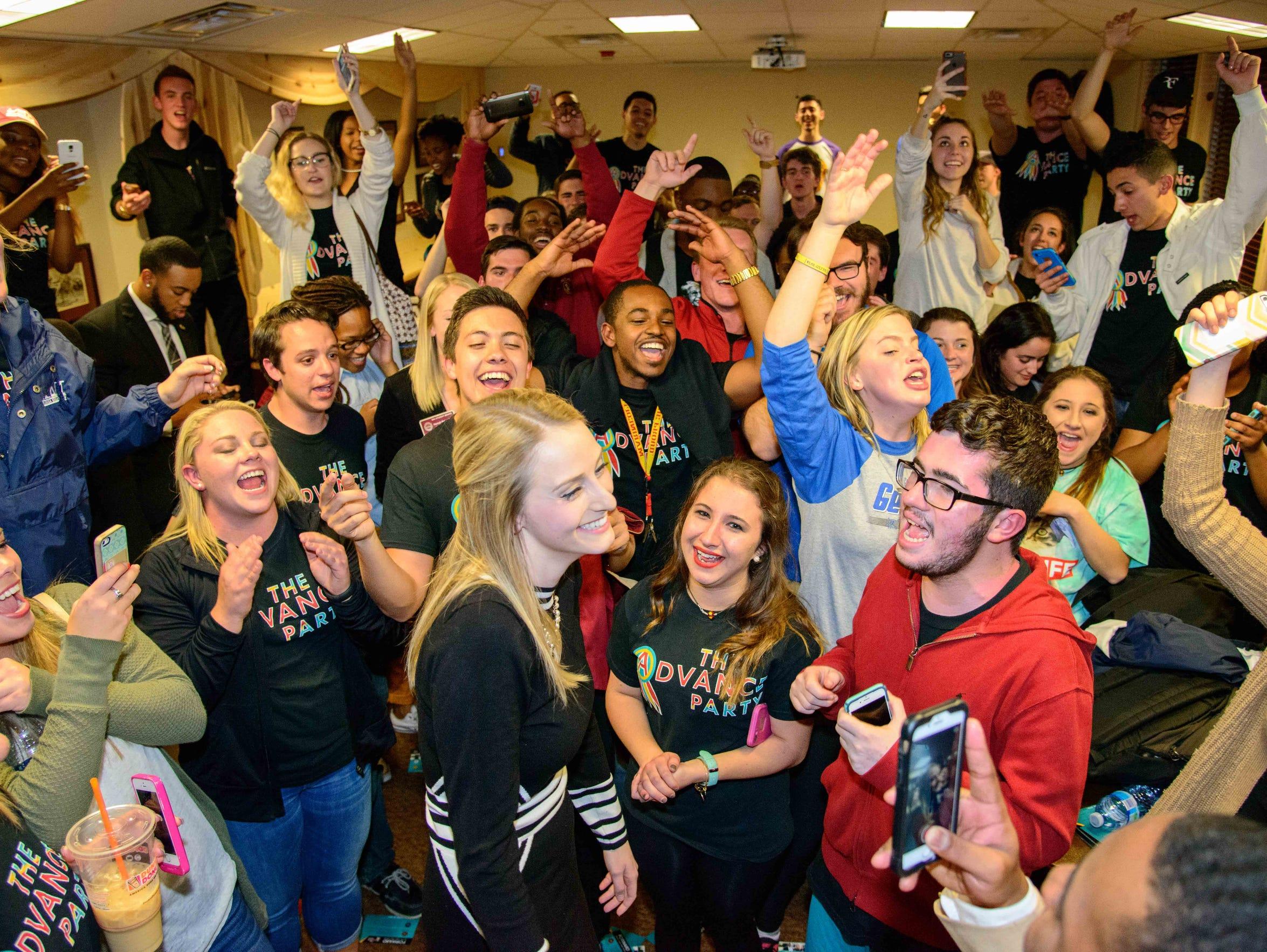 Student Body Vice President celebrates her Advance