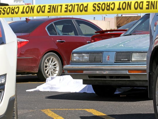 A woman was crushed by a car on Thursday in the parking lot of Kmart on East Main Street in Farmington.