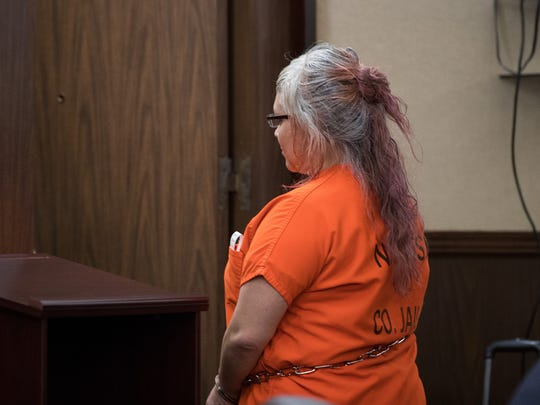 Sandra Vasquez appears in the 105th District Court after being told the prosecutors are seeking the death penalty in the October 2016 killing of Breanna Wood.