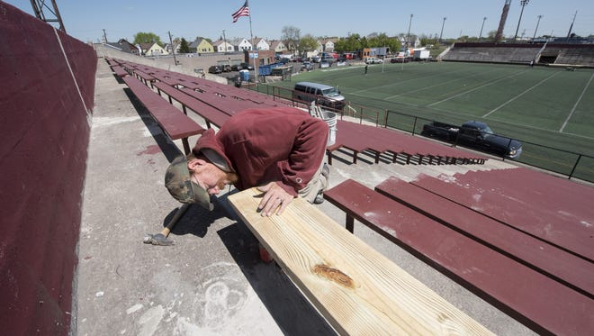 Keyworth Stadium underwent extensive renovations before last season's Detroit City FC's debut at the historic venue.