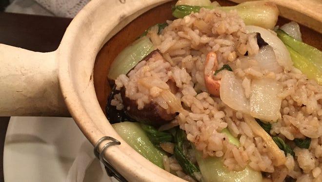 Clay pot rice at Bangkok Street, a Thai restaurant in Kenwood.
