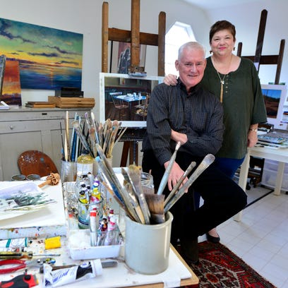 Artists Robert and Barbara Buchanan, shown in their