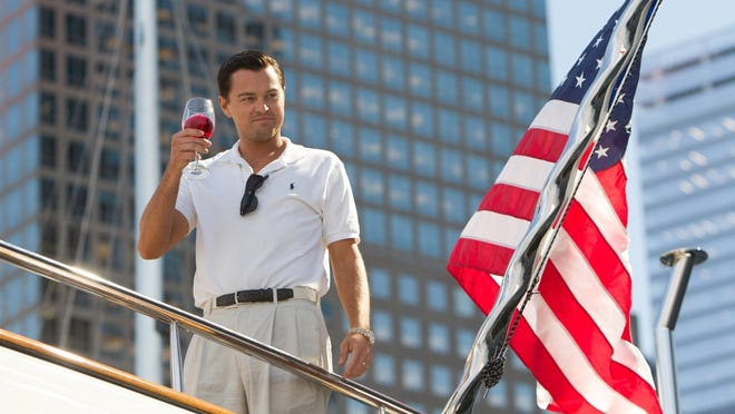 "Leonardo DiCaprio lives the good life as Jordan Belfort in ""The Wolf of Wall Street."""