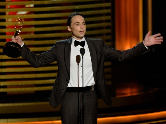 Jim Parsons wins at the 66th annual Emmy Awards.