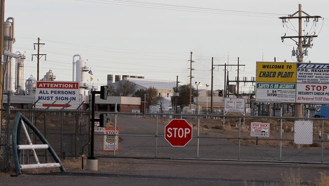 The Enterprise Products Operating Chaco Plant, as seen March 15 off County Road 7100 south of Farmington.
