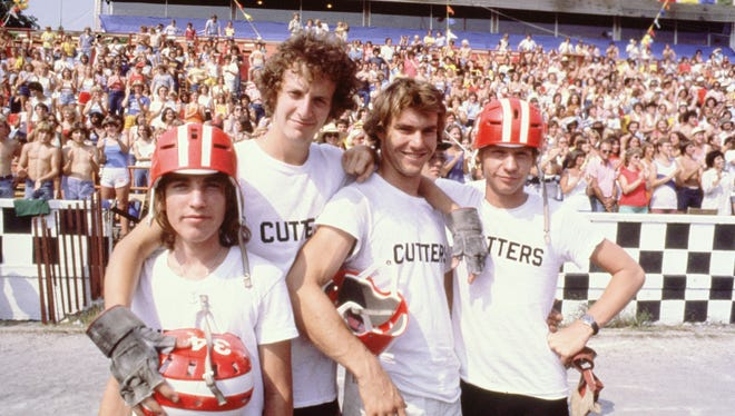 Moocher (Jackie Earle Haley), Cyril (Daniel Stern), Mike (Dennis Quaid) and Dave (Dennis Christopher) in Breaking Away