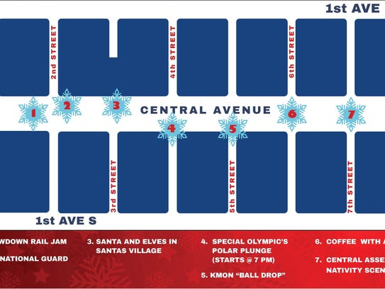 The Christmas Stroll has activities on every block
