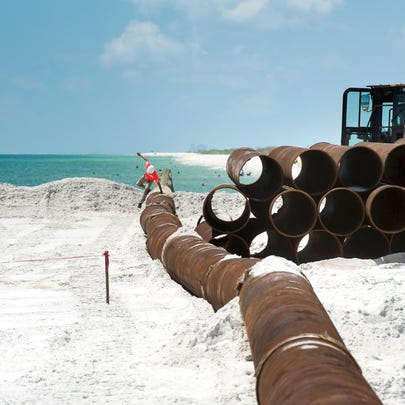 Contractors are nearing the end of the beach renourishment