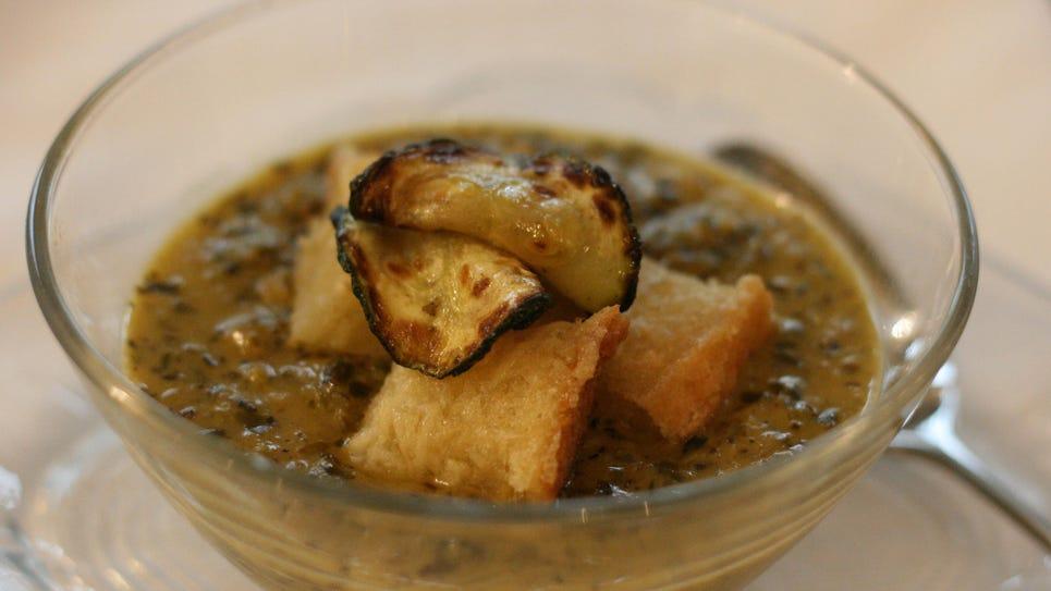 Zucchini Pesto Blender Soup