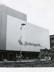 The Herberger's store building and Mall Germain construction