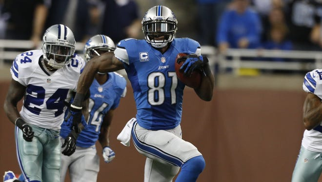 Lions WR Calvin Johnson fell 8 yards short of breaking the NFL's single-game record for receiving yards.