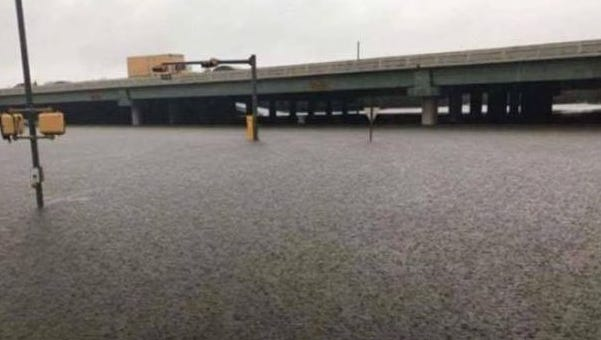 Family members of Natalie Anwar, a DeWitt resident, sent her this photo of a Houston area freeway. The area was affected by flooding caused by Hurricane Harvey.