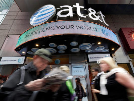 An AT&T store in New York's Times Square.