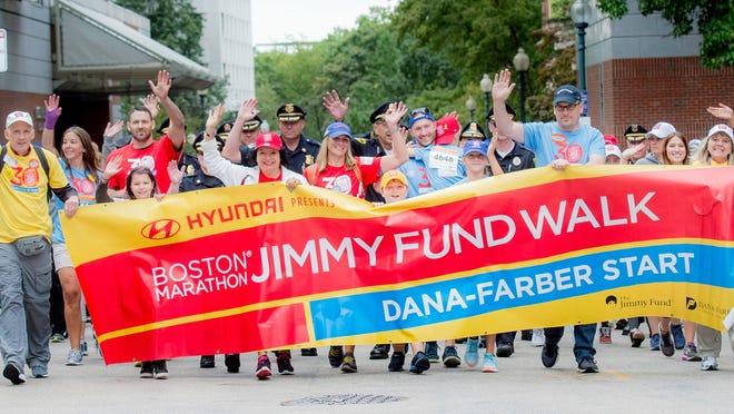 Boston Marathon Jimmy Fund Walk walkers take part in a past event.