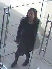 Evesham police are seeking the public's help in identifying this woman, who they say used a fraudulent credit card to buy two phones.