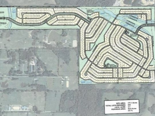 Quinn Ridge Planned Development calls for 543 residential lots just south of Collierville.