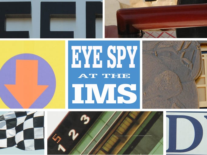 We're doing a photo guessing game for Grand Prix of Indianapolis and the Indy 500. Can you figure out what places and objects at the Indianapolis Motor Speedway are pictured in the following 11 close-up photos?