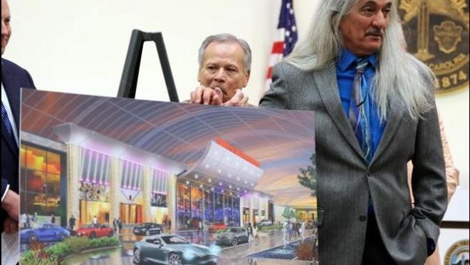 Chief Bill Harris of the Catawba Indian Nation talks about the proposed casino in Kings Mountain at a March 13 press conference.